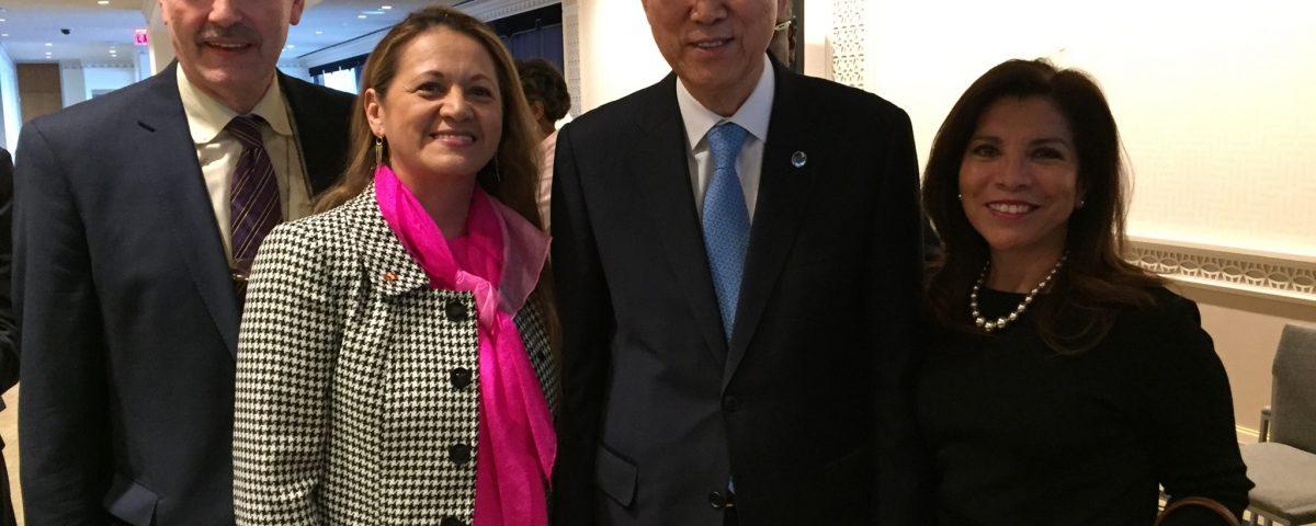 At UN Secretariat with UN SG