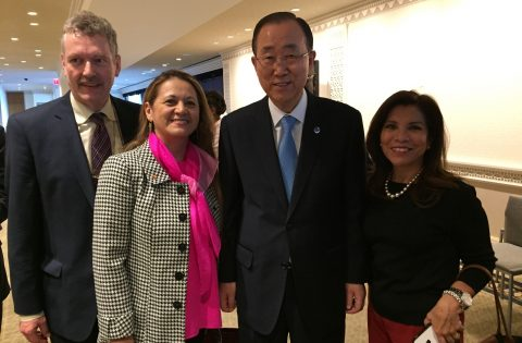 At UN Secretariat with UN SG