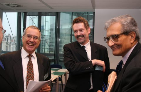 With Amartya Sen and Nicholas Stern, Charlemagne, Brussels